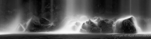 My abstract interpretation of a waterfall in B&W